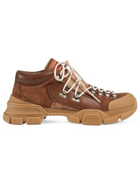 Gucci - Brown Monogram Flashtrek Boots - Men
