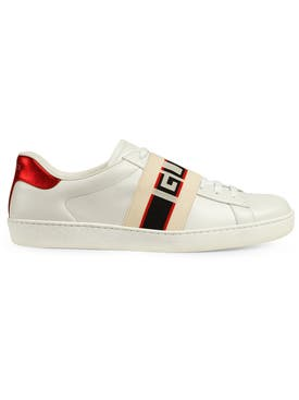 Gucci - Gucci Stripe Leather Sneaker White - Men