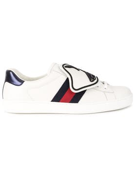 Gucci - Ace Sneaker With Shark Removable Patches White - Men