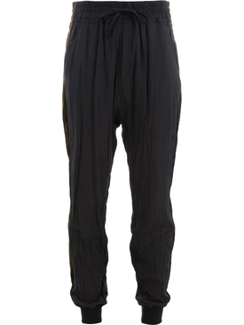 drawstring-waist sweatpants BLACK