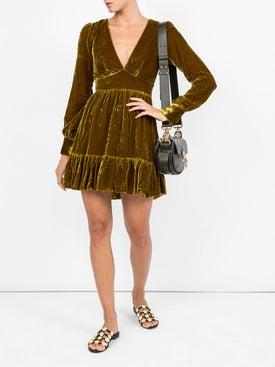 Saloni - Textured V-neck Dress - Women