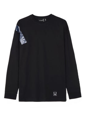 Fred Perry X Raf Simons - Taped Sweatshirt Black - Men