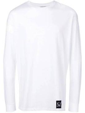 Fred Perry X Raf Simons - Taped Sweatshirt White - Men