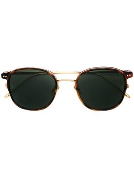 Tortoise shell round sunglasses
