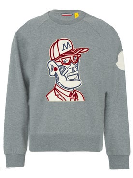 Moncler Genius - 2 Moncler 1952 Embroidered Front Print Sweatshirt Charcoal - Men