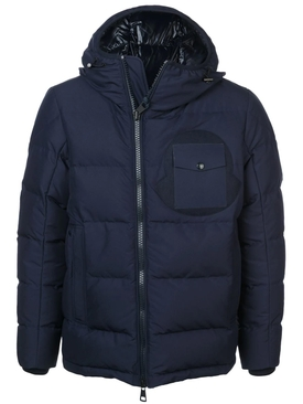 fitted puffer jacket BLUE