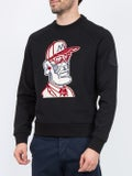 Moncler Genius - 2 Moncler 1952 Embroidered Front Print Sweatshirt Black - Men