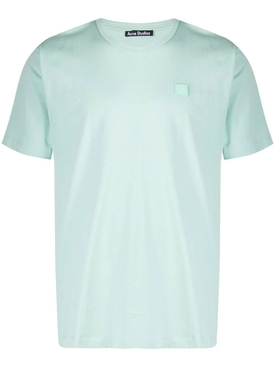 Face cotton T-shirt, Spearmint Green