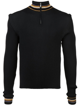 striped detail jumper BLACK