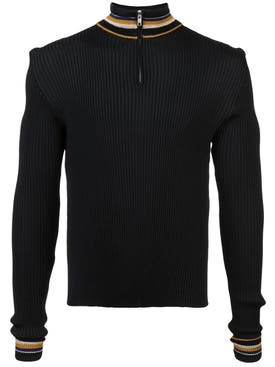 Wales Bonner - Striped Detail Jumper Black - Men