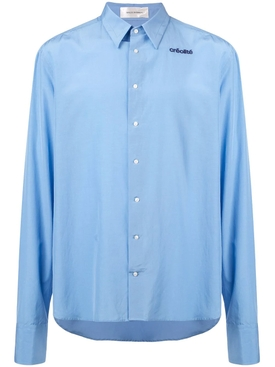 Wales Bonner - Creolite Embroidered Shirt Blue - Men