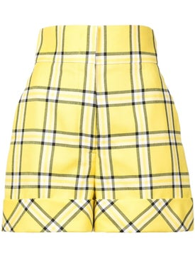 Sara Battaglia - Checked Tailored Shorts - Women