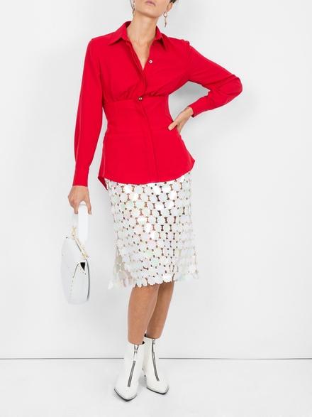 Cedric Jacquemyn Cinched Waist Shirt Red