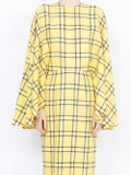 Sara Battaglia - Checked Fitted Dress - Women