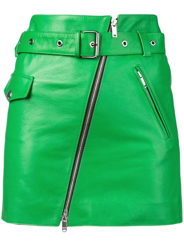 c44cd3f9a4 Sonia Rykiel - Green Belted Leather Mini Skirt - Women