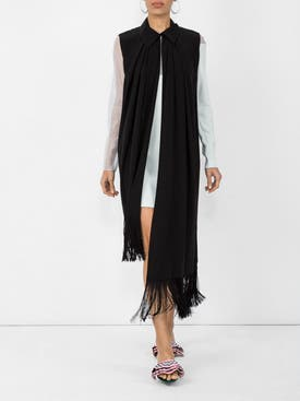 Givenchy - Asymmetric Fringe Trim Blouse Black - Women