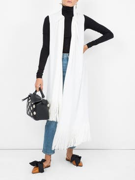 Givenchy - Asymmetric Fringe Trim Blouse White - Women