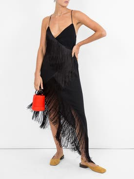 Givenchy - Cascading Fringe Slip Dress - Women