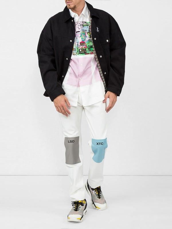 b11d5a68c Comme Des Garcons Shirt - Commes Des Garcons X Jean-michel Basquiat  Graffiti Printed Shirt