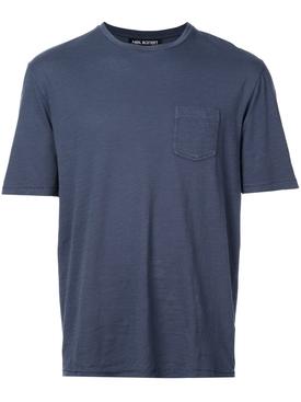 chest pocket T-shirt BLUE