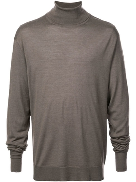 roll-neck fitted jumper GREY