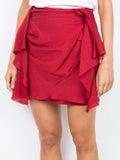 Carmen March - Draped Mini Skirt - Women
