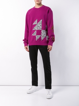 geometric print long sleeve shirt PURPLE