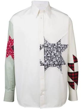 embellished patchwork shirt
