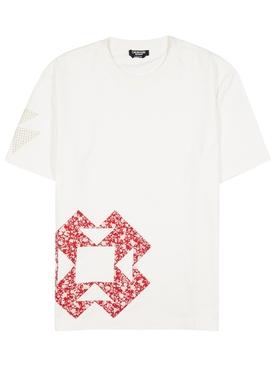 geometric print tee shirt