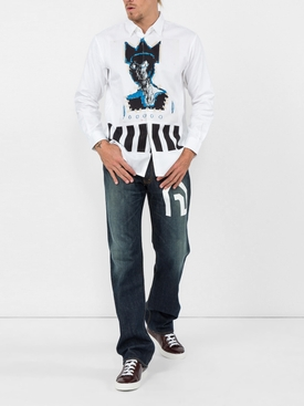 Junya Watanabe x Levi's graphic Selvedge Denim Jeans