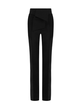 oversized bow trousers