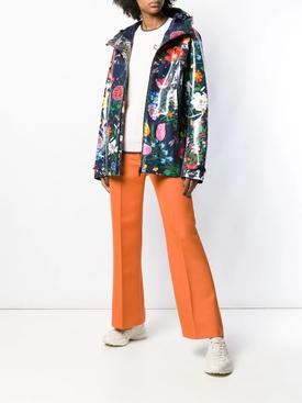 floral print parka coat