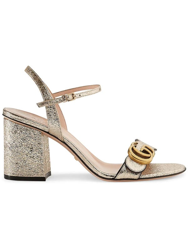 1fdaaa835 Metallic leather mid-heel sandal - WOMEN | The Webster