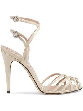 Patent Leather Sandals VINTAGE WHITE