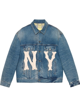 Denim jacket with NY Yankees' patch