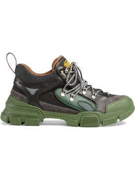 Gucci - Green Flashtrek Sneakers - Men