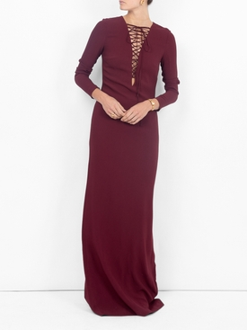 lace-up gown RED