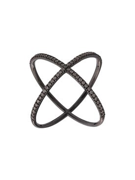 Eva Fehren - X Ring 19kt Blackened White Gold - Women
