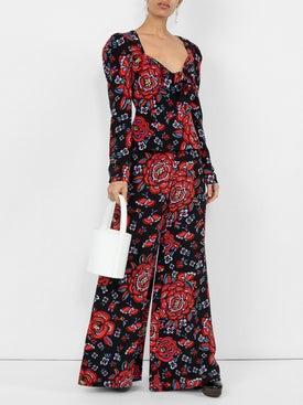 Rebecca De Ravenel - Printed Tie-front Blouse - Women