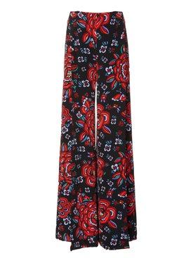 Rebecca De Ravenel - Floral Print High Waisted Pants - Women