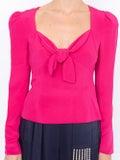 Rebecca De Ravenel - Tie Front Blouse Pink - Women