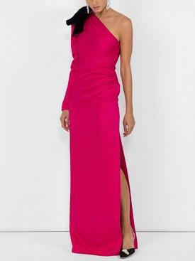 Rebecca De Ravenel - Jacquard One Shoulder Gown - Women