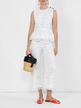 Adam Lippes - Corded Lace Cropped Trousers - Women