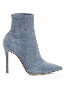 Gianvito Rossi - Stretch Denim Booties - Women