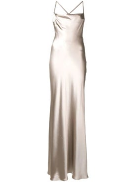 Galvan - Whiteley Dress Silver - Evening