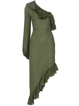 Juan Carlos Obando - Asymmetric Ruffled Dress - Women