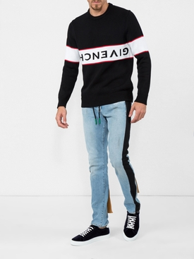 upside down logo sweater BLACK