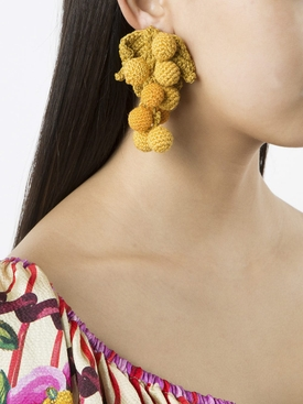 knitted chunky earring