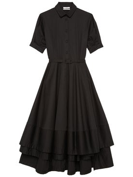 Co - Short Sleeve Flared Dress - Women