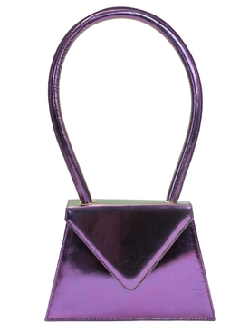 Flat metallic purple bag